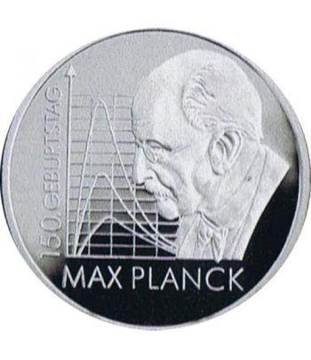 moneda Alemania 10 Euros 2008 F. Max Planck.  - 1