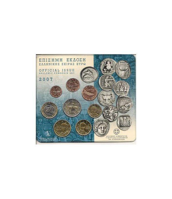 Cartera oficial euroset Grecia 2007  - 2