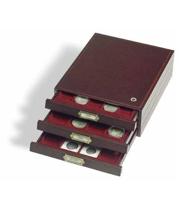 LEUCHTTURM Bandejas de madera HMB 35 para 35 placas Jeroban Bandeja Monedas - 2
