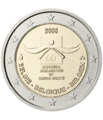 moneda conmemorativa 2 euros Belgica 2008.  - 2