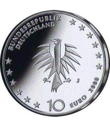 moneda Alemania 10 Euros 2008 J. Buque escuela.  - 2