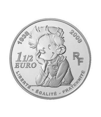 Francia 1 1/2 € 2008 70 Años del comic Spirou.  - 2