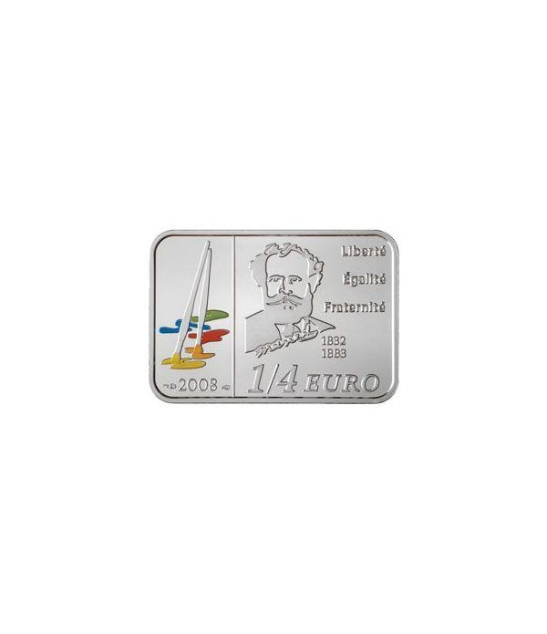 Francia 1/4 € 2008 Eduard Manet. Plata.  - 2
