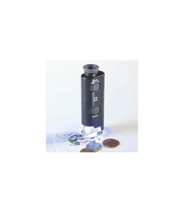 LEUCHTTURM Microscopio de bolsillo 60 a 100 aumentos. Lupas - 2