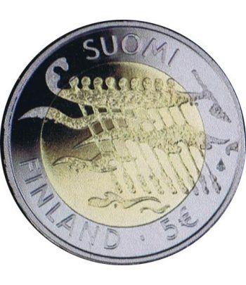 moneda Finlandia 5 Euros 2007 90º Independencia (proof)  - 1