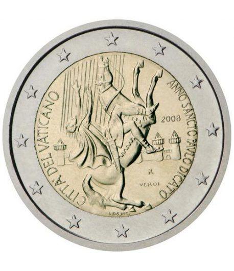 moneda conmemorativa 2 euros Vaticano 2008. Estuche Oficial.  - 2