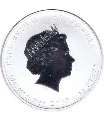 Moneda media onza de plata 1/2$ Australia Lunar 2009 Buey  - 2