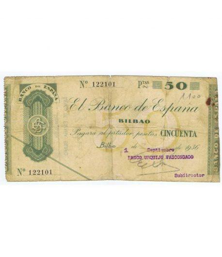 (1936) BILBAO. 50 Pesetas. MBC  - 1