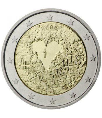 moneda conmemorativa 2 euros Finlandia 2008.  - 2