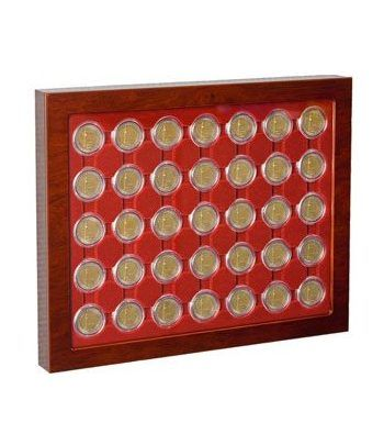 Leuchtturm vitrina para caps 26 (2 euros) Bandeja Monedas - 1