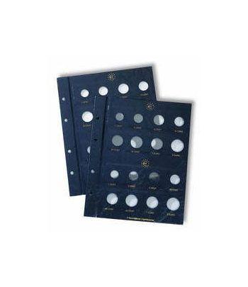 LEUCHTTURM VISTA 2 Hojas Euros para 2 series de 8 monedas  - 2