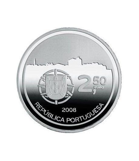 Portugal 2.5 Euros 2008 UNESCO. Oporto. Cuproníquel  - 1