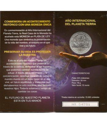 Cartera oficial euroset 12 Euros España 2008 Año Planeta Tierra  - 1
