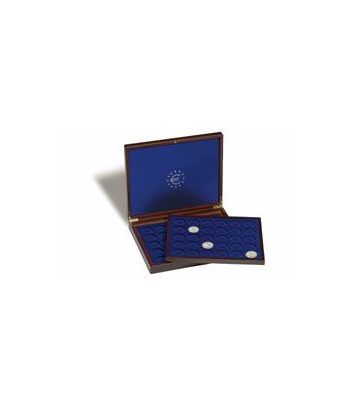LEUCHTTURM Estuche de madera con 2 bandejas para 70m. de 2 euro Estuche Monedas - 2