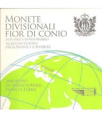 Cartera oficial euroset San Marino 2008 + 5€ (plata)  - 2