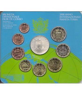 Cartera oficial euroset San Marino 2008 + 5€ (plata)  - 1