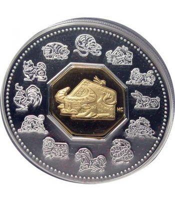 Canada 15$ (2009) Calendario Chino Buey - Plata y Oro  - 2