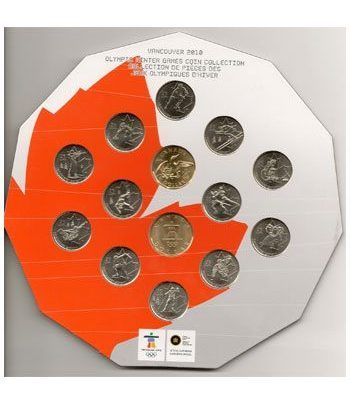 Estuche monedas Canada 2009 (Vancouver 2010)  - 1