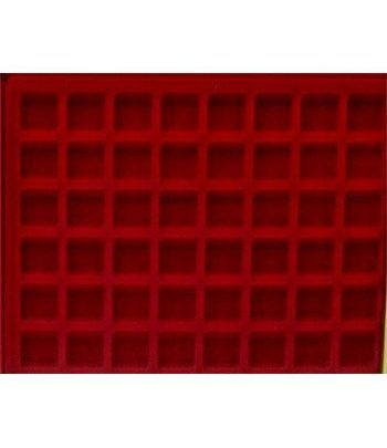 Filober interior terciopelo para 48 placas de cava  - 2