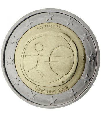 """moneda Portugal 2 euros 2009 """"10 Años de la EMU""""  - 2"""