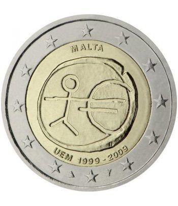 """moneda Malta 2 euros 2009 """"10 Años de la EMU""""  - 2"""
