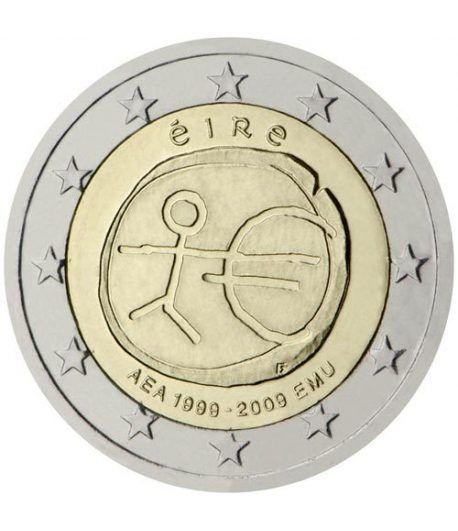 """moneda Irlanda 2 euros 2009 """"10 Años de la EMU""""  - 2"""