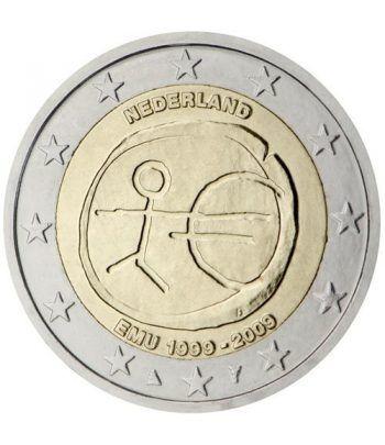 """moneda Holanda 2 euros 2009 """"10 Años de la EMU""""  - 2"""