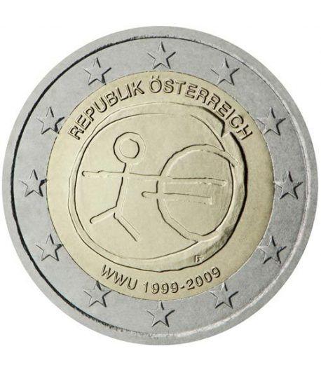 """moneda Austria 2 euros 2009 """"10 Años de la EMU""""  - 2"""