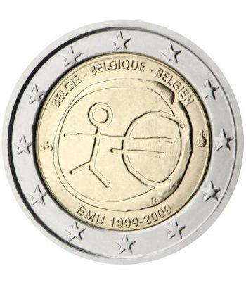 """moneda Bélgica 2 euros 2009 """"10 Años de la EMU""""  - 2"""