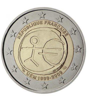 """moneda Francia 2 euros 2009 """"10 Años de la EMU""""  - 2"""
