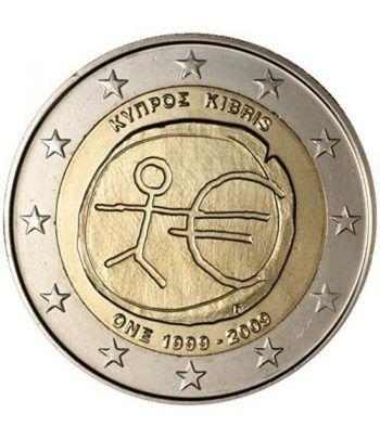 """moneda Chipre 2 euros 2009 """"10 Años de la EMU""""  - 2"""