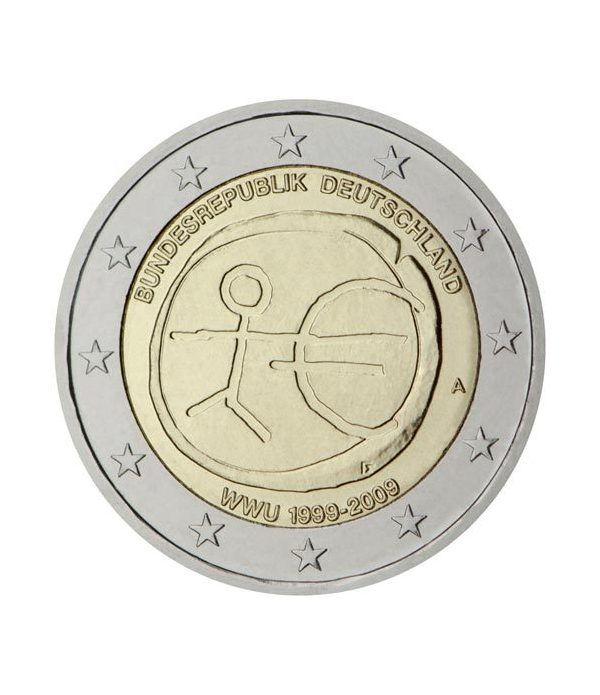 """moneda Alemania 2 euros  2009 """"10 Años de la EMU"""" (5 cecas)  - 2"""