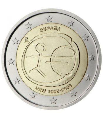 """moneda España 2 euros 2009 """"10 Años de la EMU""""  - 2"""