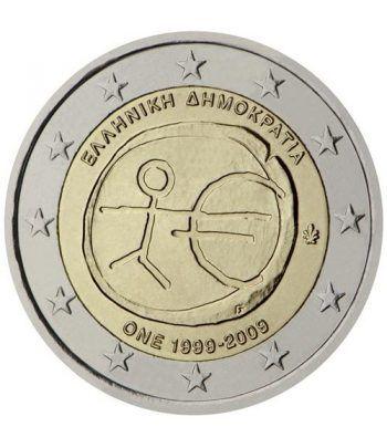 """moneda Grecia 2 euros 2009 """"10 Años de la EMU""""  - 2"""