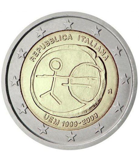 "moneda Italia 2 euros 2009 ""10 Años de la EMU""  - 2"