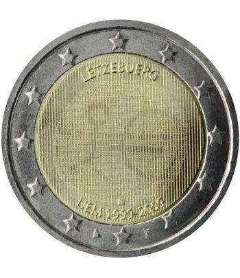 """moneda Luxemburgo 2 euros 2009 """"10 Años de la EMU""""  - 2"""