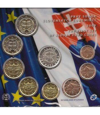 Cartera oficial euroset Eslovaquia 2009 (incluye medalla)  - 2