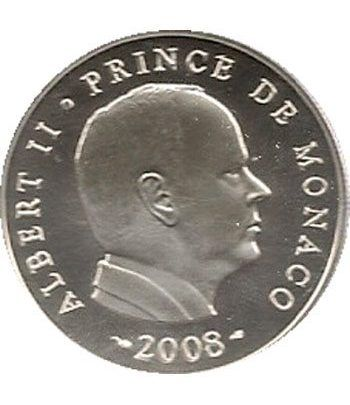 Monaco 5 euros 2008. Principe Alberto II. Plata.  - 2