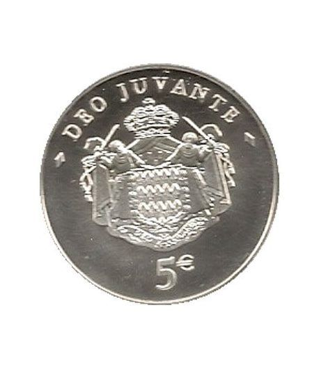 Monaco 5 euros 2008. Principe Alberto II. Plata.  - 1