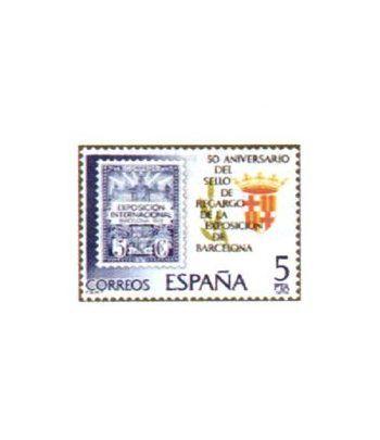 2549 Sello de recargo de la Exposición de Barcelona  - 2