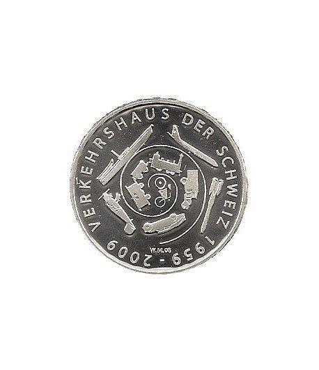 Moneda de plata 20 francos Suiza 2009.  - 2