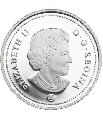 Moneda de plata 1 Dollar Canada 2009 Centenario Aviación. Proof.  - 2