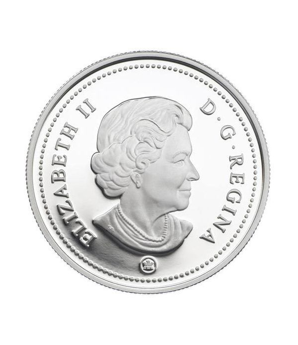Moneda de plata 1 Dollar Canada 2009 Centenario Aviación. Proof.  - 2
