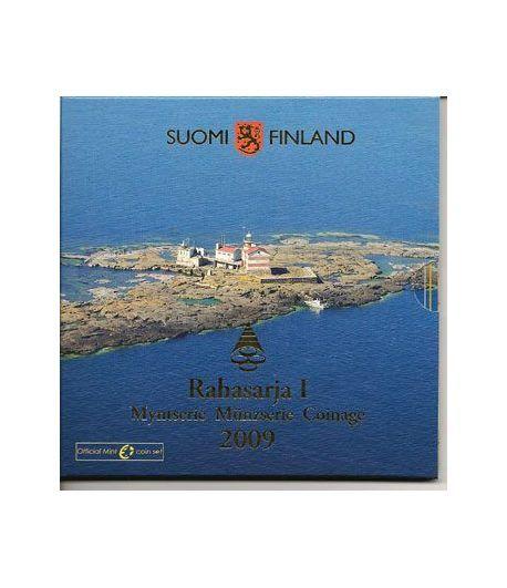 Cartera oficial euroset Finlandia 2009.  - 2