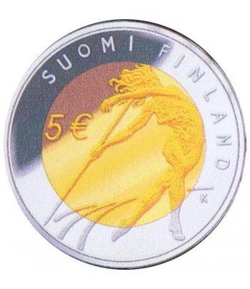 moneda Finlandia 5 Euros 2005 Atletismo.  - 1