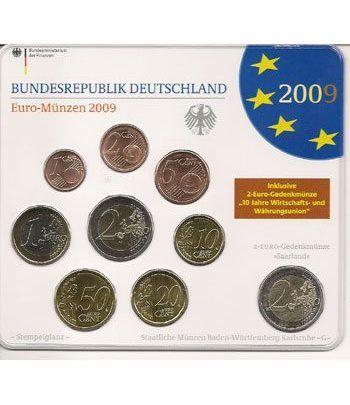 Cartera oficial euroset Alemania 2009 (5 cecas).  - 2