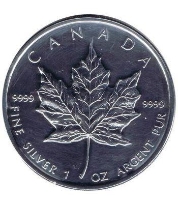 Moneda onza de plata 5$ Canada Hoja de Arce 2009  - 4