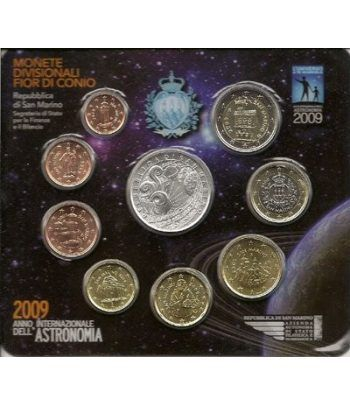 Cartera oficial euroset San Marino 2009 + 5€ (plata)  - 1