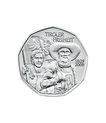 moneda Austria 5 Euros 2009 (nueve esquinas) Tiroles.  - 2