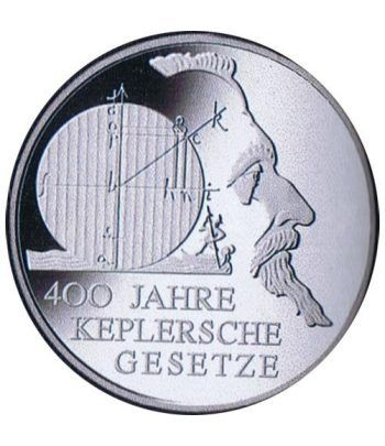 moneda Alemania 10 Euros 2009 F. Kepler.  - 1